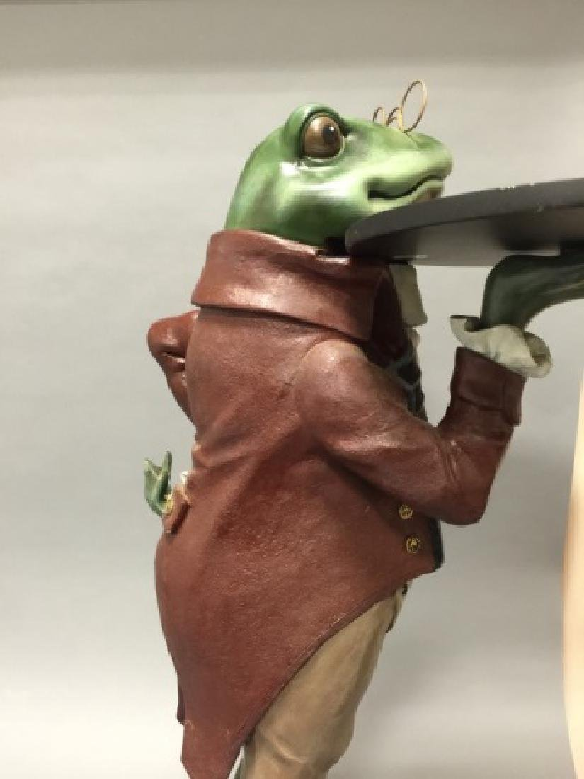 Whimsical Frog in Butler's Outfit Pedestal / Stand - 2