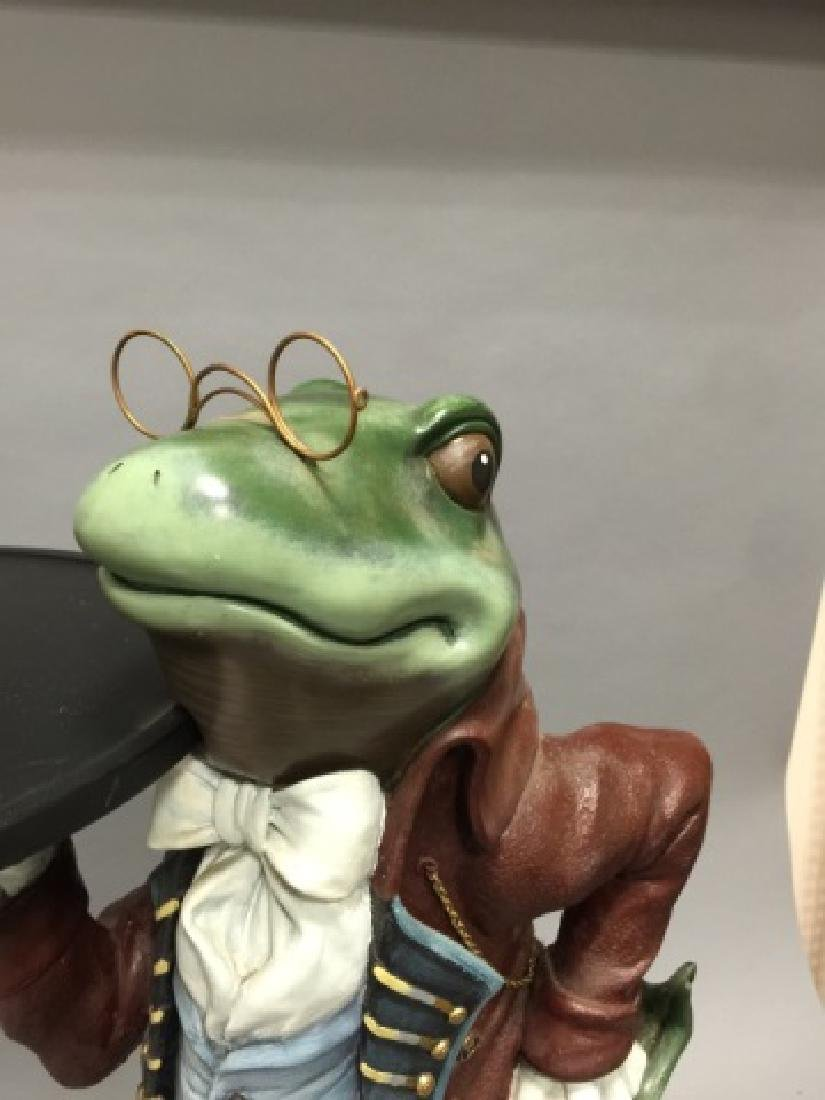 Whimsical Frog in Butler's Outfit Pedestal / Stand - 3