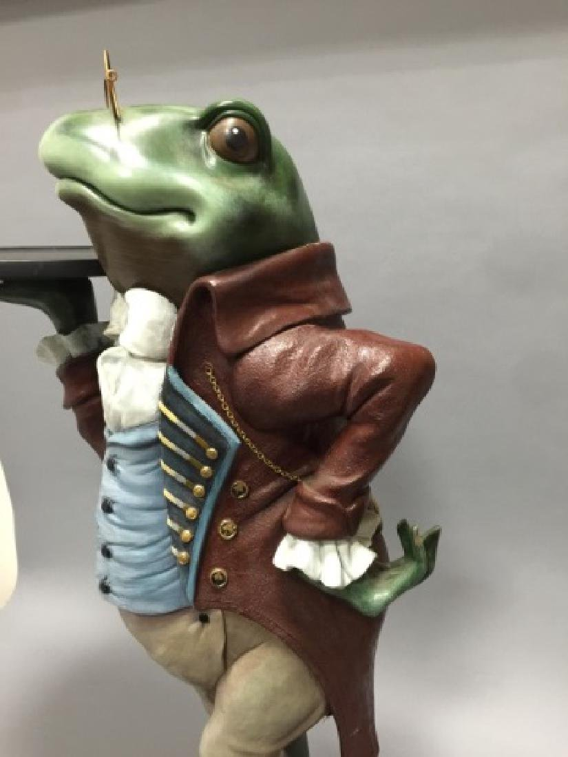 Whimsical Frog in Butler's Outfit Pedestal / Stand - 4
