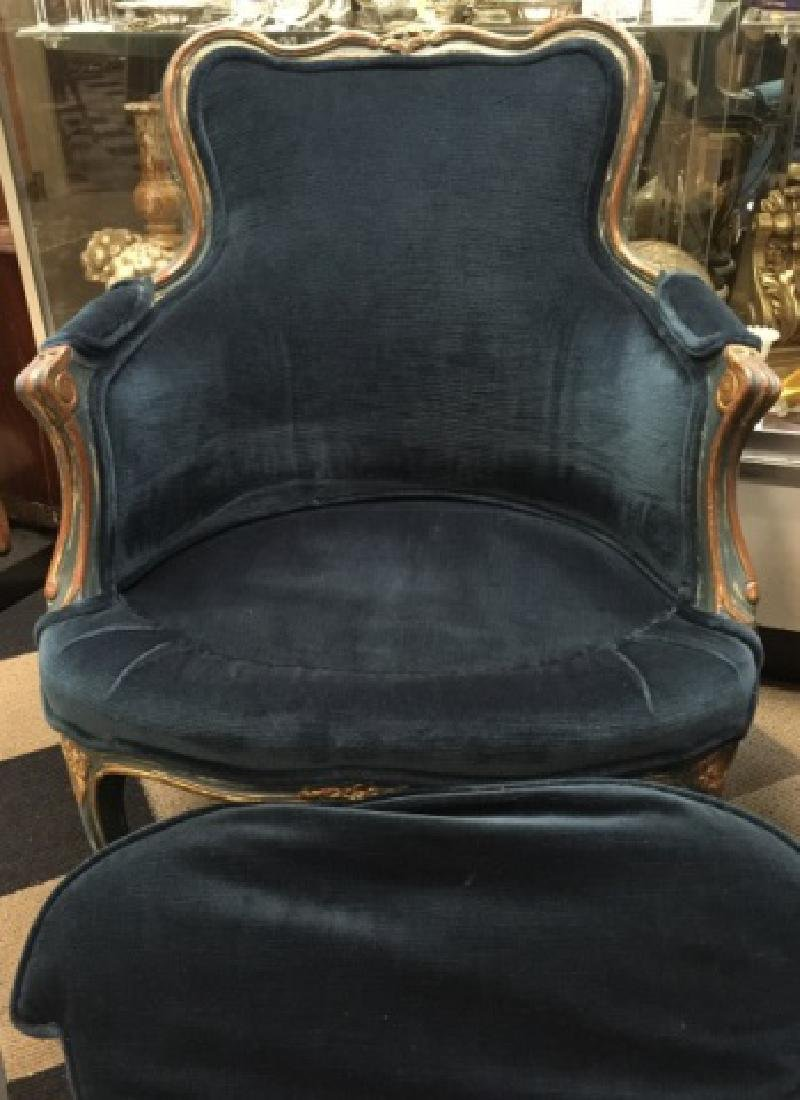 Pr Signed Maison Jansen French Bergere Arm Chairs - 3