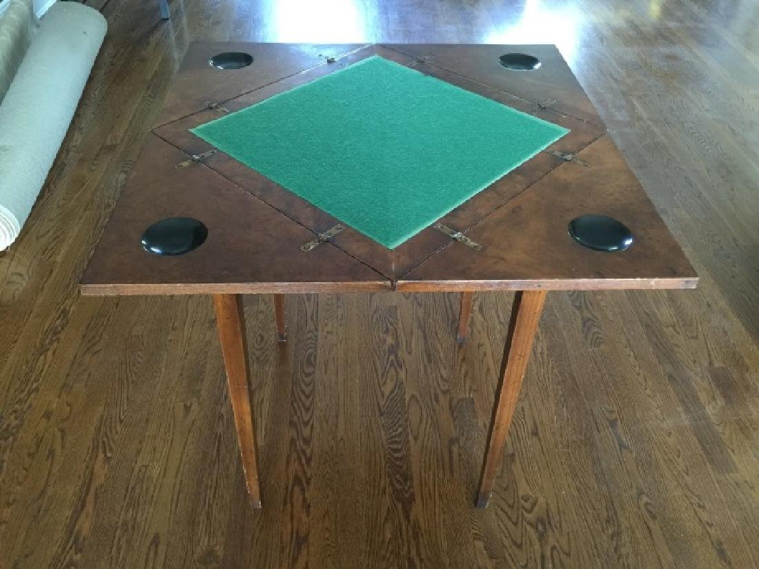 Antique Folding / Rotating Top Games Table