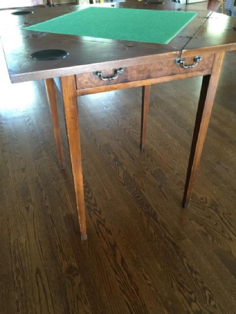 Antique Folding / Rotating Top Games Table - 4