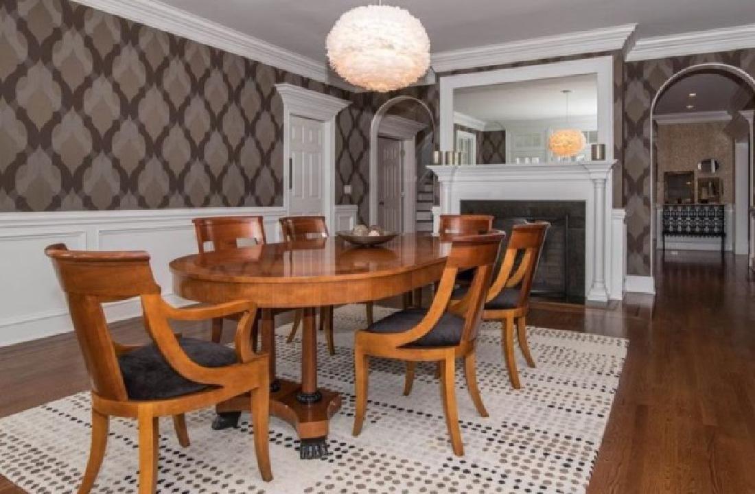 Baker Biedermeier Double Pedestal Dining Table