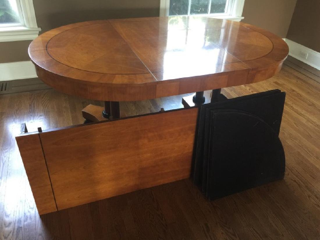 Baker Biedermeier Double Pedestal Dining Table - 2