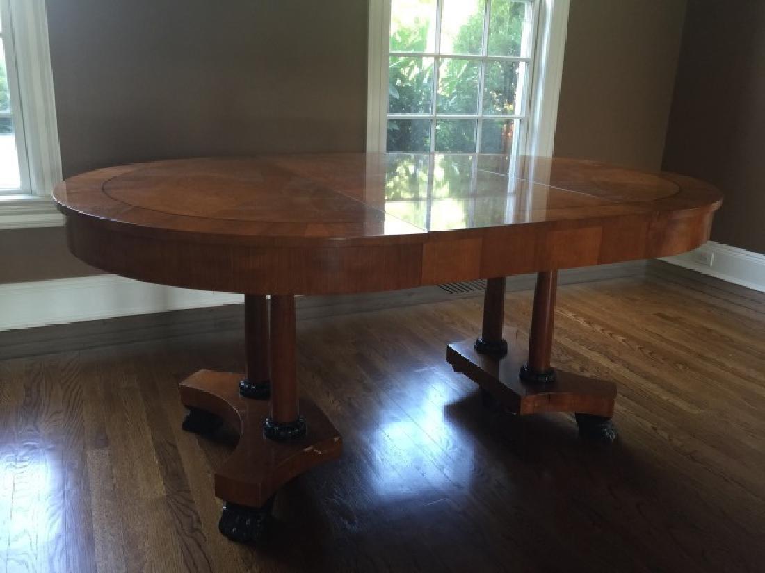 Baker Biedermeier Double Pedestal Dining Table - 3