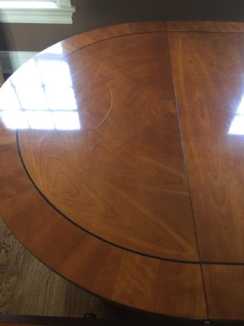 Baker Biedermeier Double Pedestal Dining Table - 4