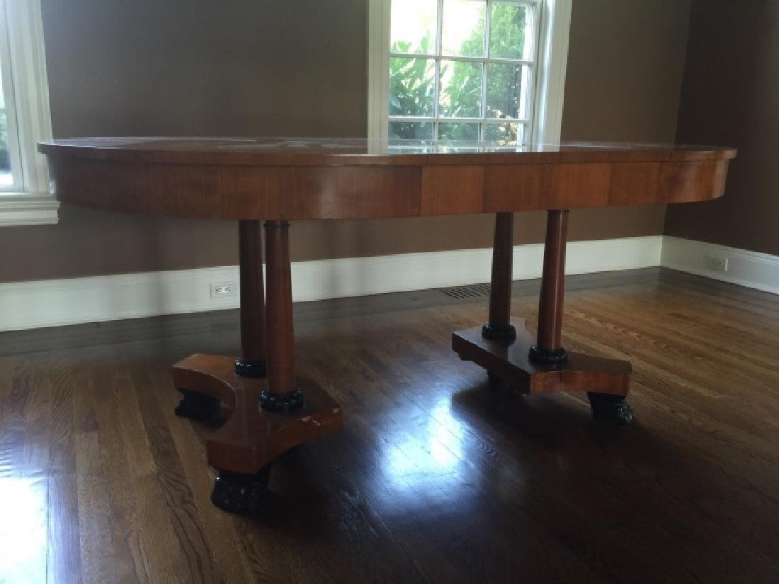 Baker Biedermeier Double Pedestal Dining Table - 6