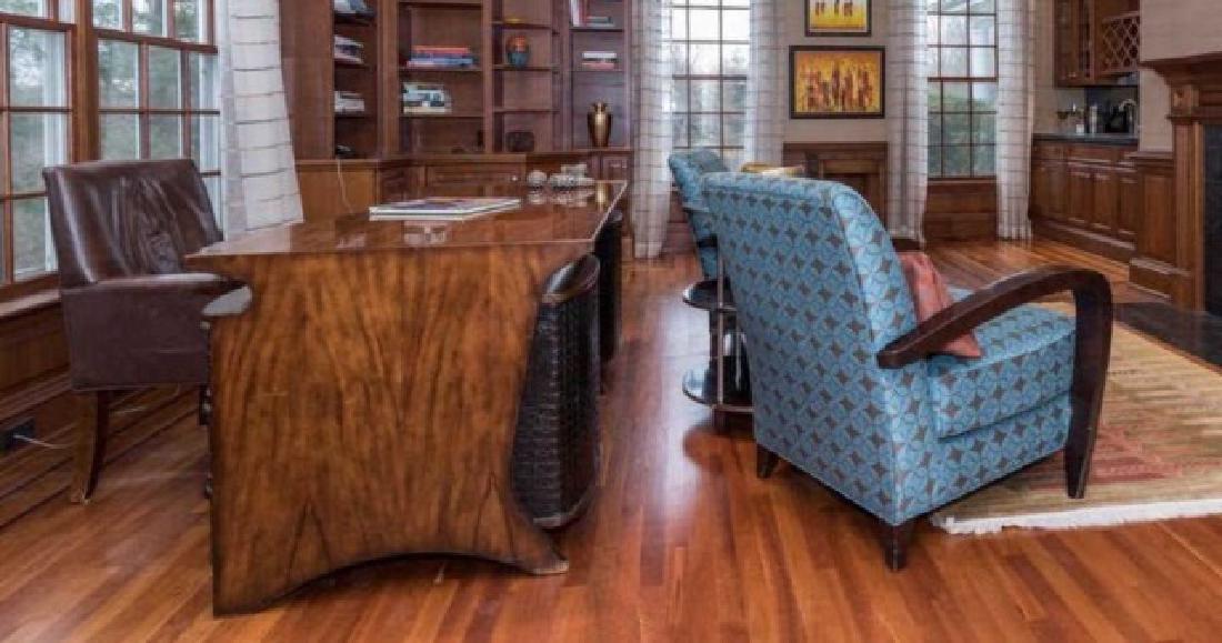 Theodore Alexander Alligator Skin Executives Desk - 2