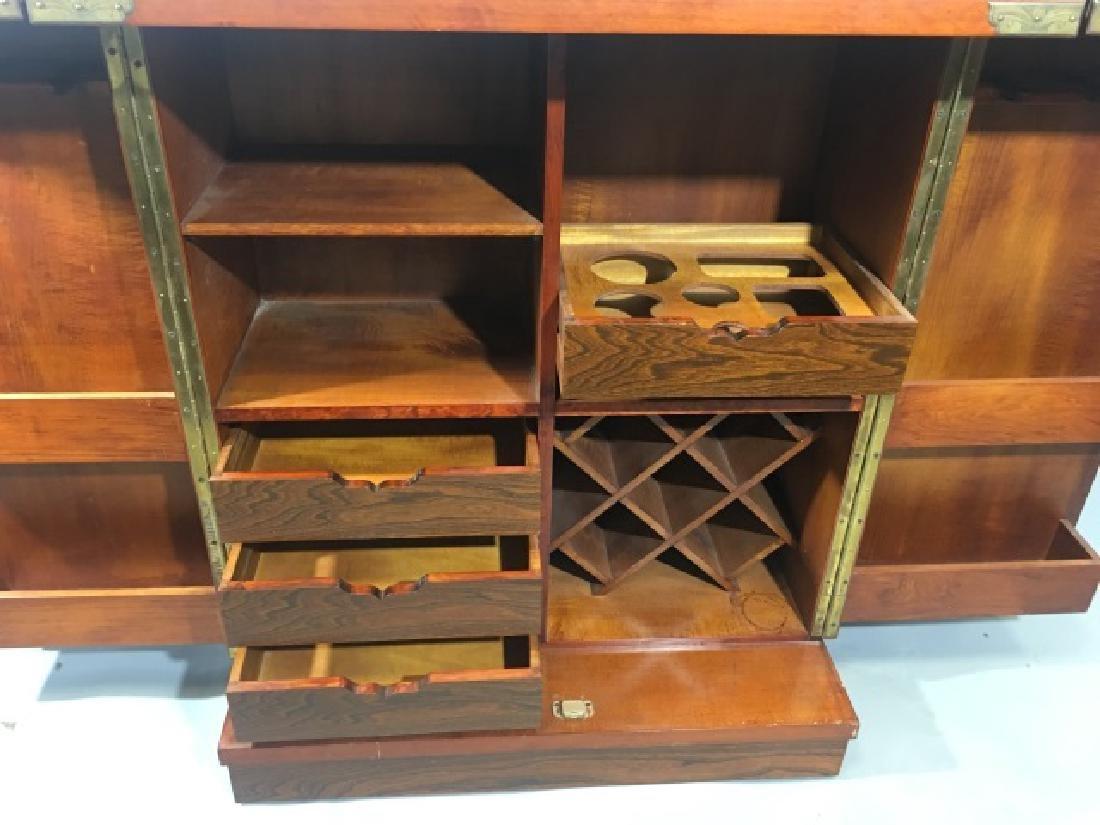 Asian Granite Top Carved Wood Bar Cabinet - 6