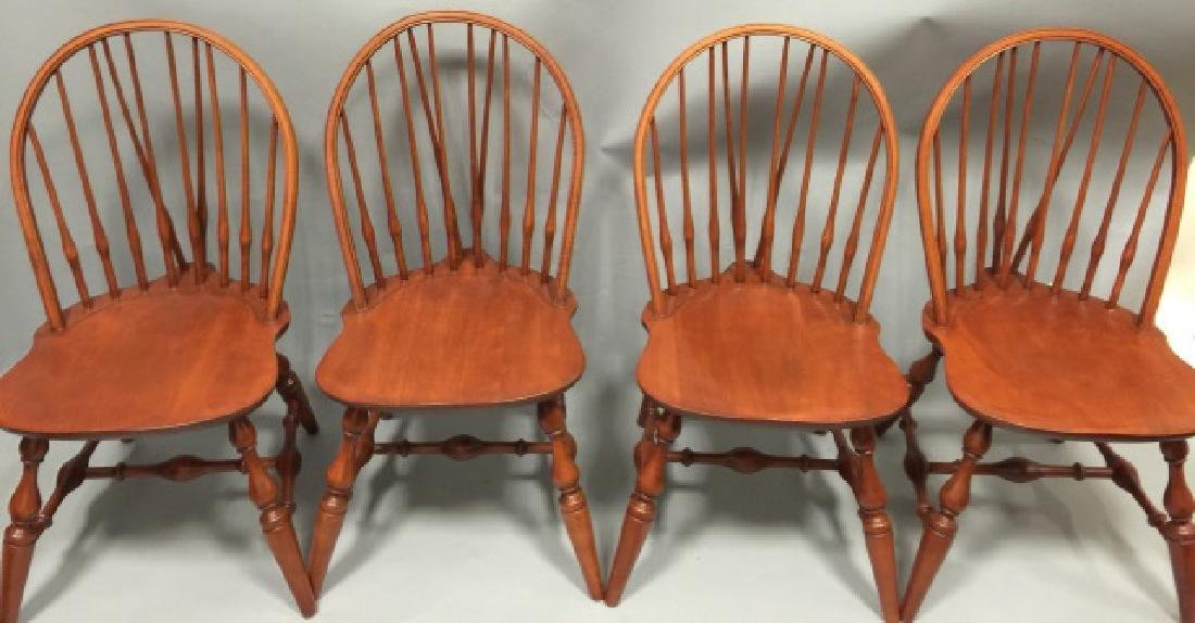 Set of Four Nichols & Stone Windsor Dining Chairs