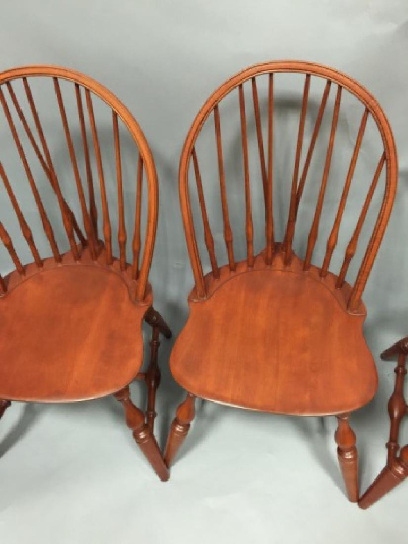 Set of Four Nichols & Stone Windsor Dining Chairs - 2