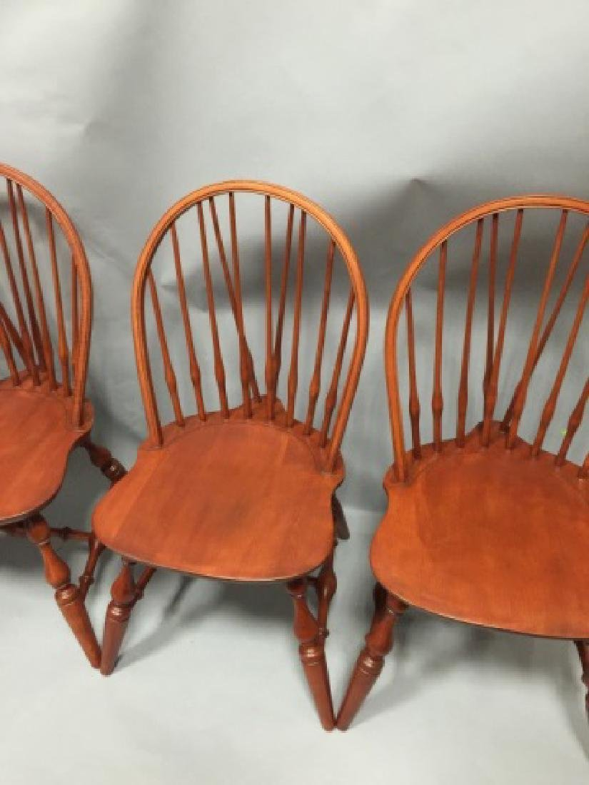 Set of Four Nichols & Stone Windsor Dining Chairs - 3