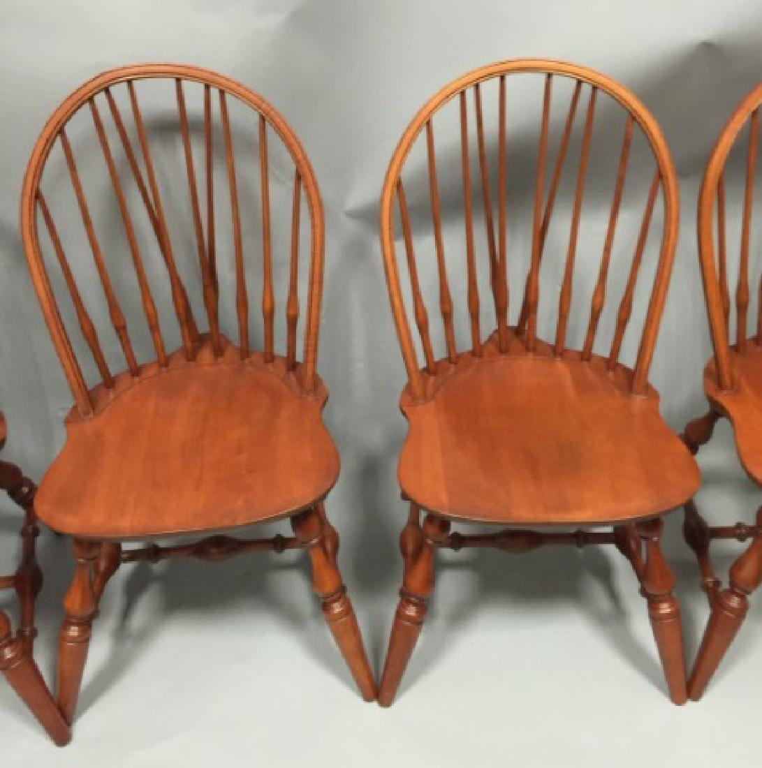Set of Four Nichols & Stone Windsor Dining Chairs - 4