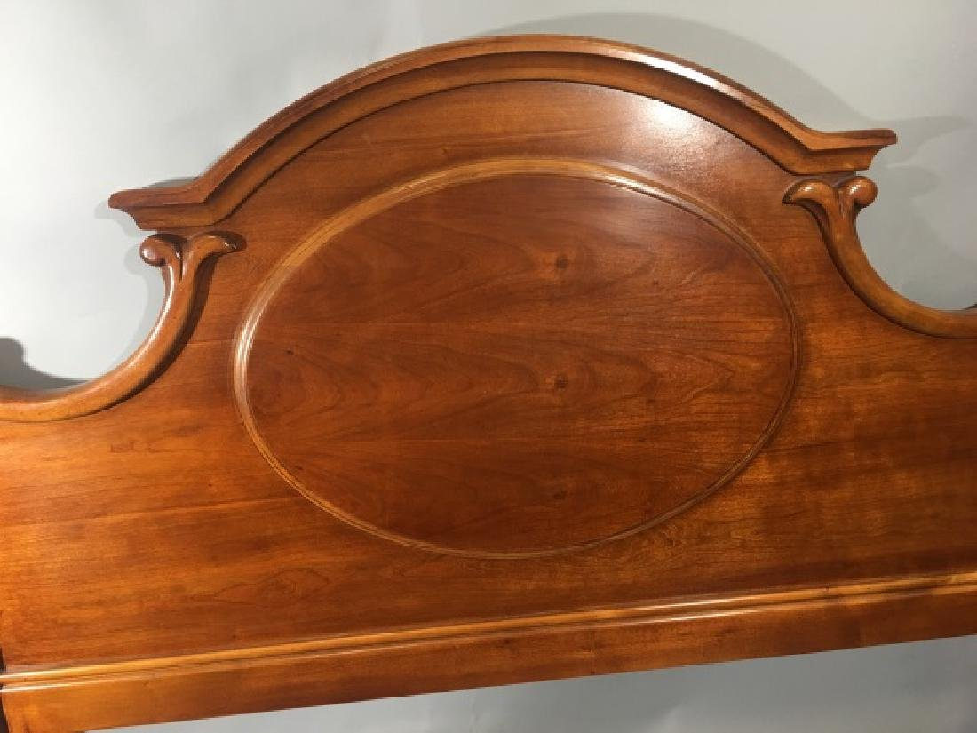 Carved Wood Queen Size Bed by Lexington - 7