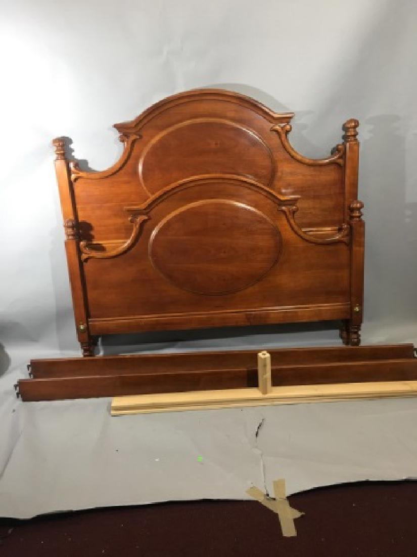 Carved Wood Queen Size Bed by Lexington - 9