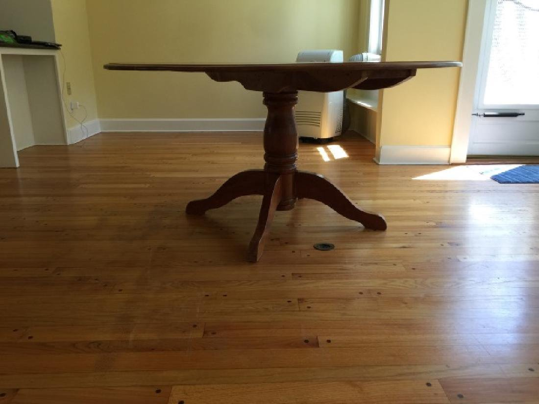 Custom Made Round Cherry Wood Farm Table - 4