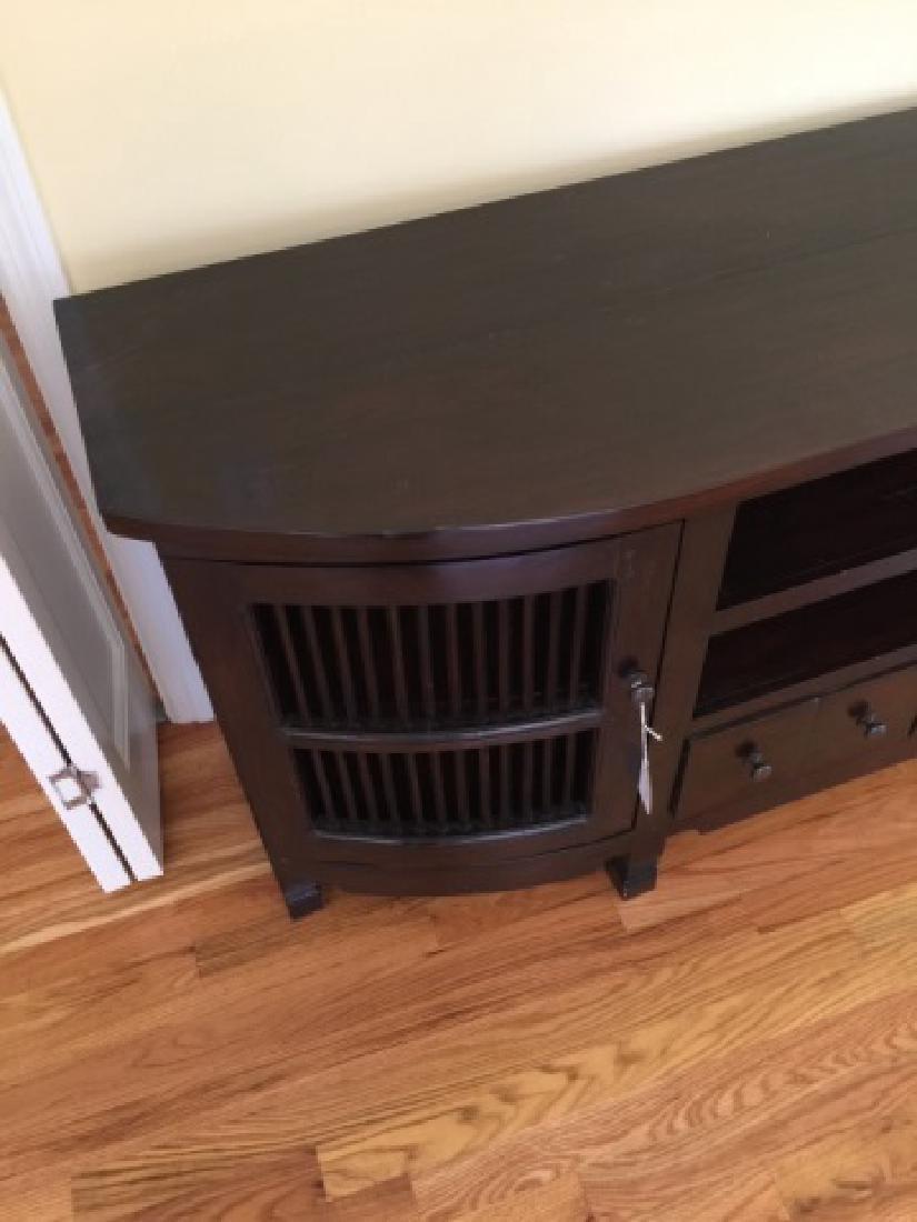 Contemporary Modern Ebony Tone Console Cabinet - 2