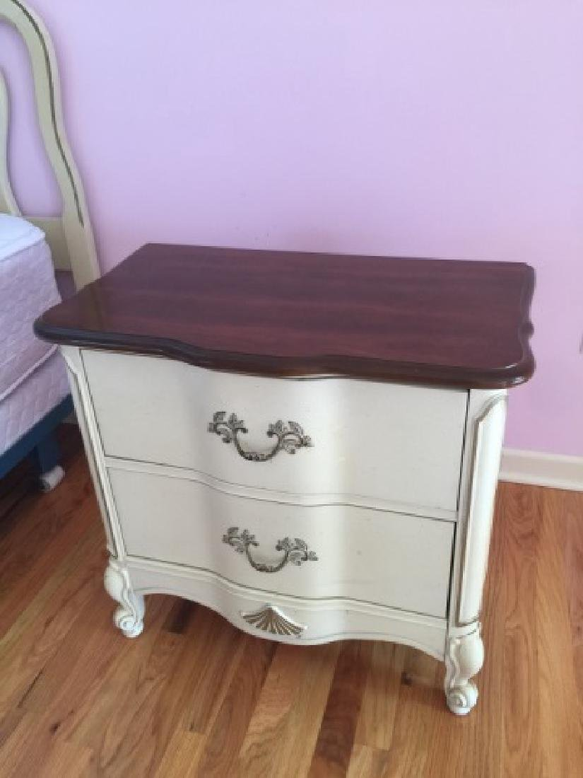 Pair French Country Provencal Style Nightstands - 3
