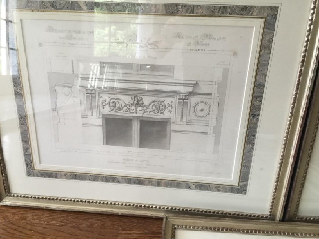 3 Antique 19th C Framed Architectural Prints - 4