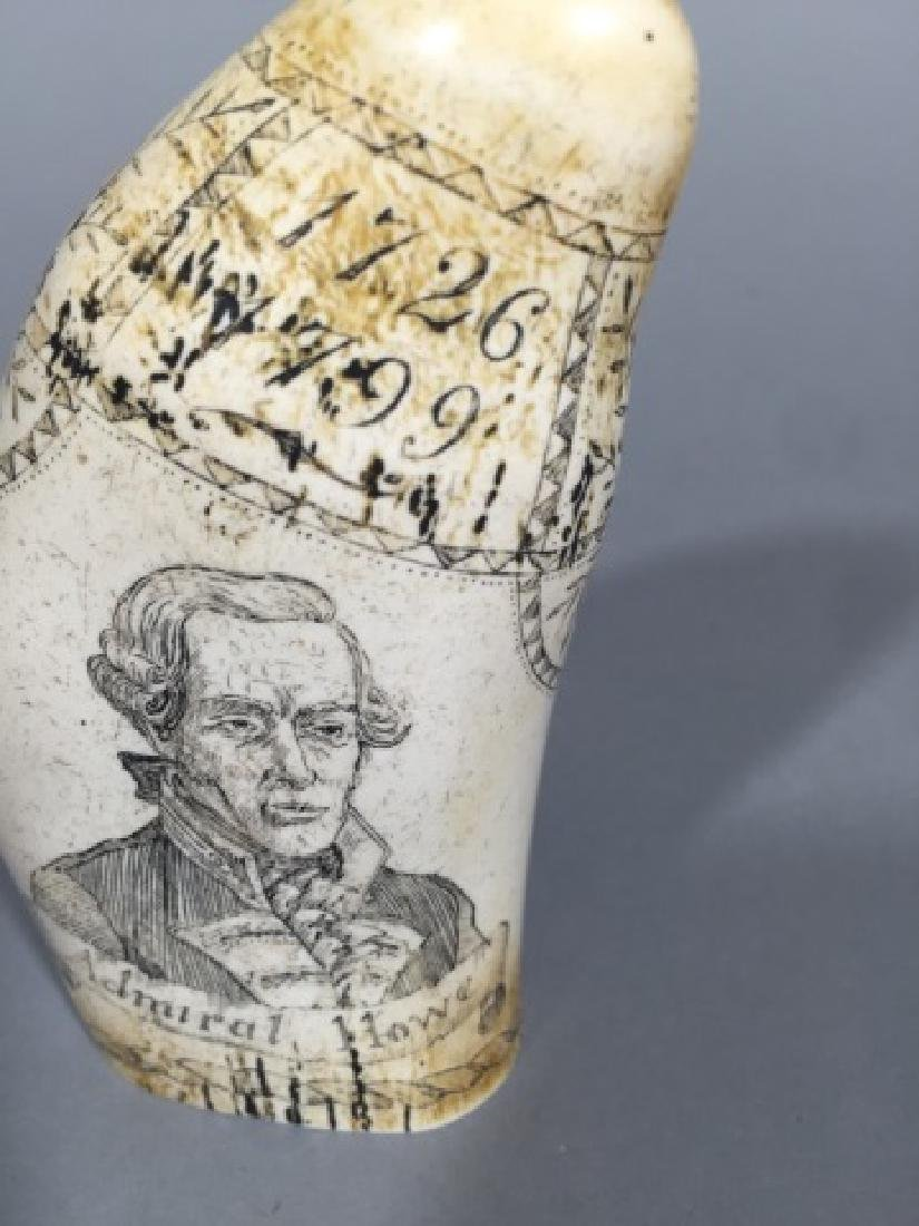 Admiral Howe / The Brunswick Faux Scrimshaw Tooth - 4