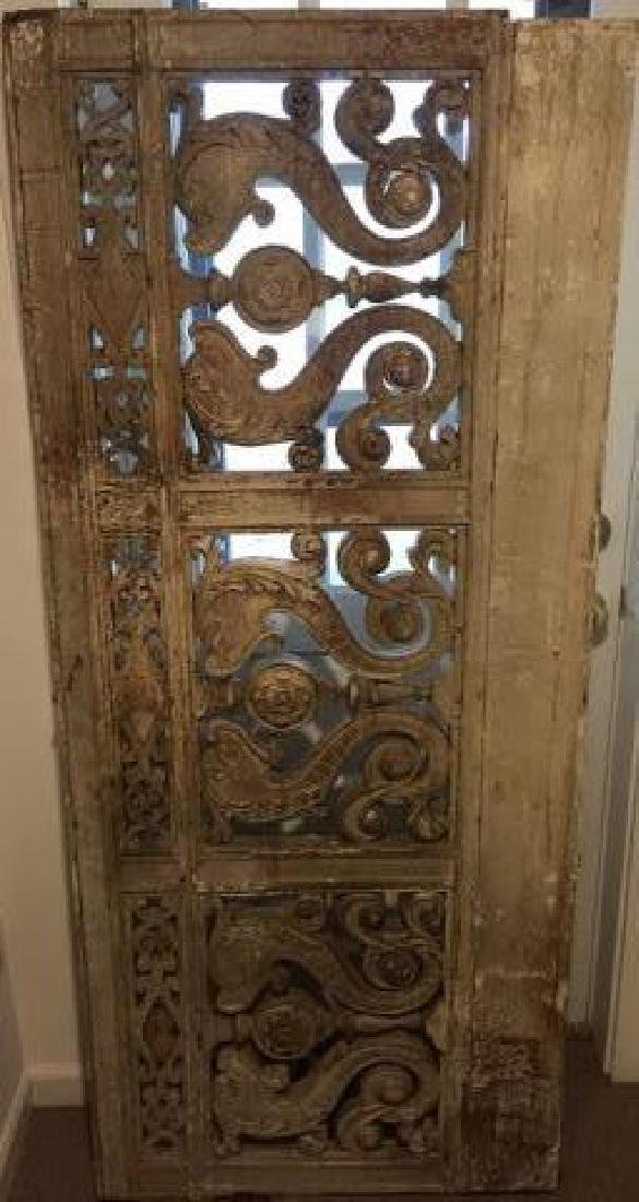 Antique 19th C Architectural Salvage Carved Panel