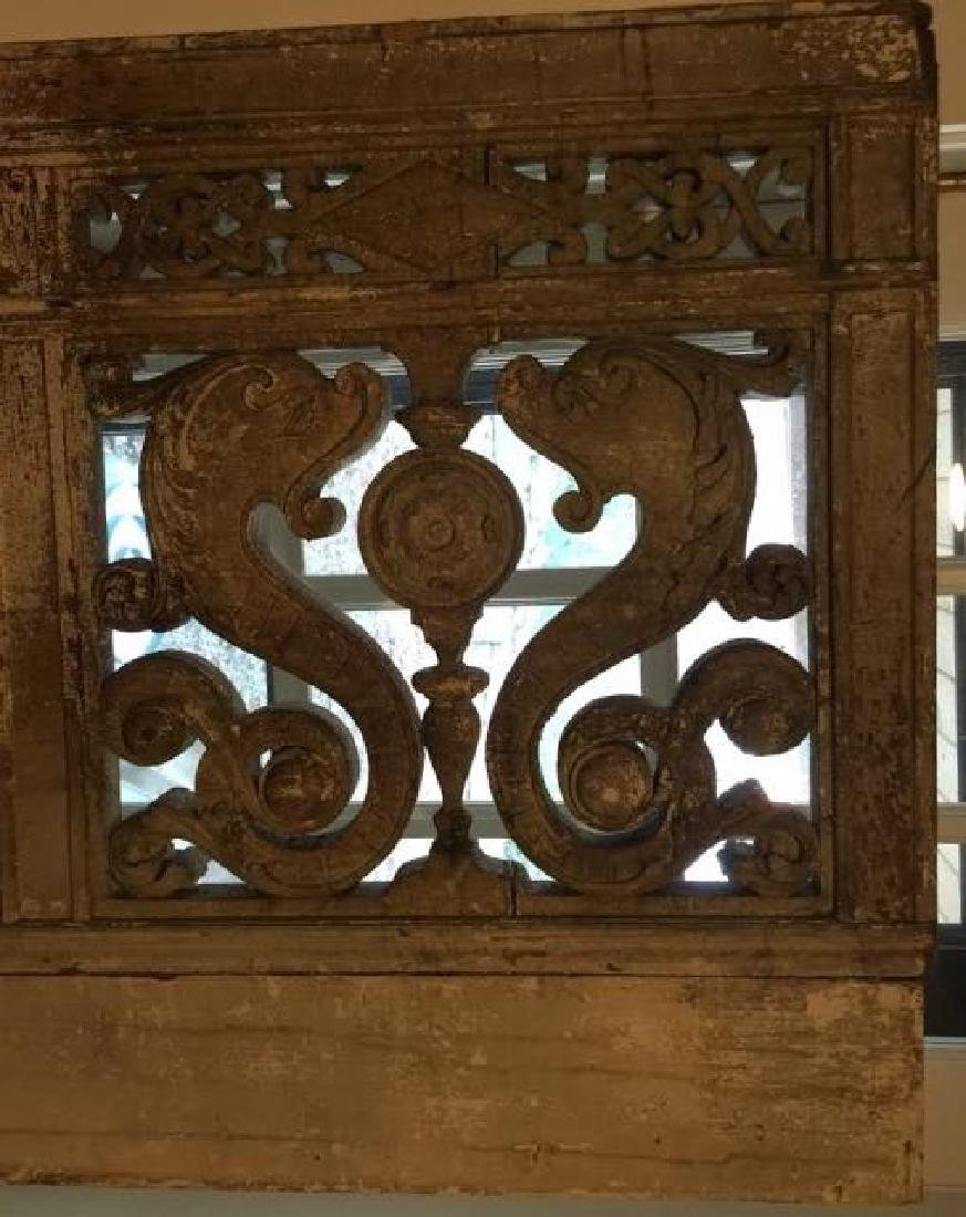 Antique 19th C Architectural Salvage Carved Panel - 2
