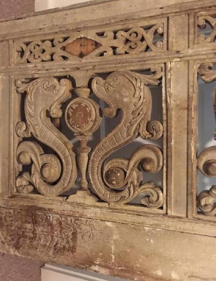 Antique 19th C Architectural Salvage Carved Panel - 3