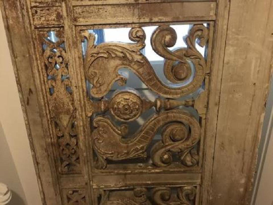 Antique 19th C Architectural Salvage Carved Panel - 4