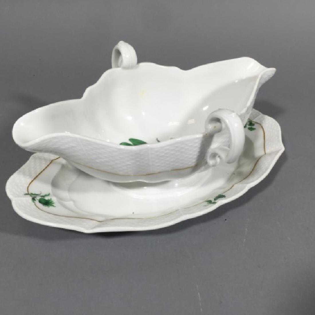 Large Meissen Sauce / Gravy Porcelain Serving Bowl - 3