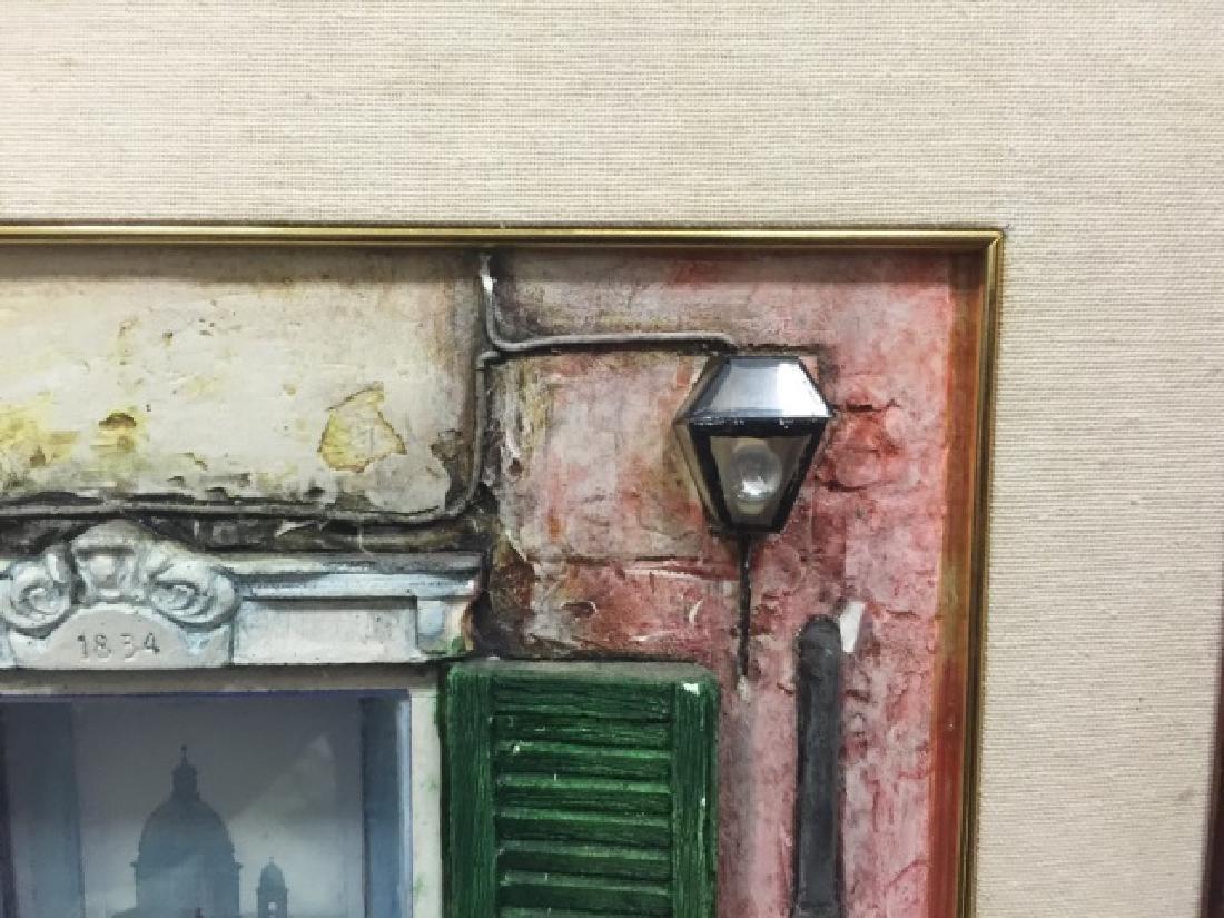 Fausto Battelli Signed 3D Artwork Via Marguita - 3