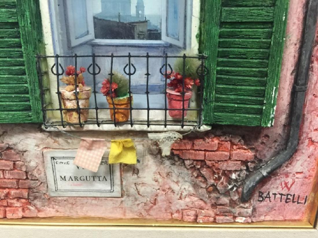Fausto Battelli Signed 3D Artwork Via Marguita - 4