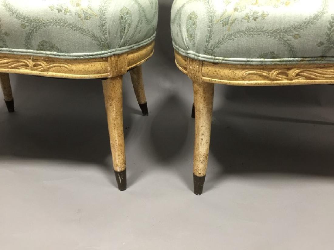 Pr Contemp. Designer Upholstered Regency Chairs - 2