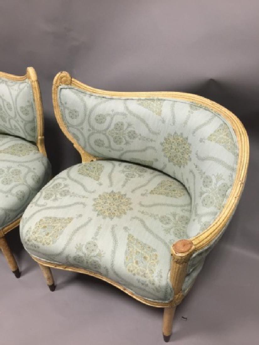 Pr Contemp. Designer Upholstered Regency Chairs - 4