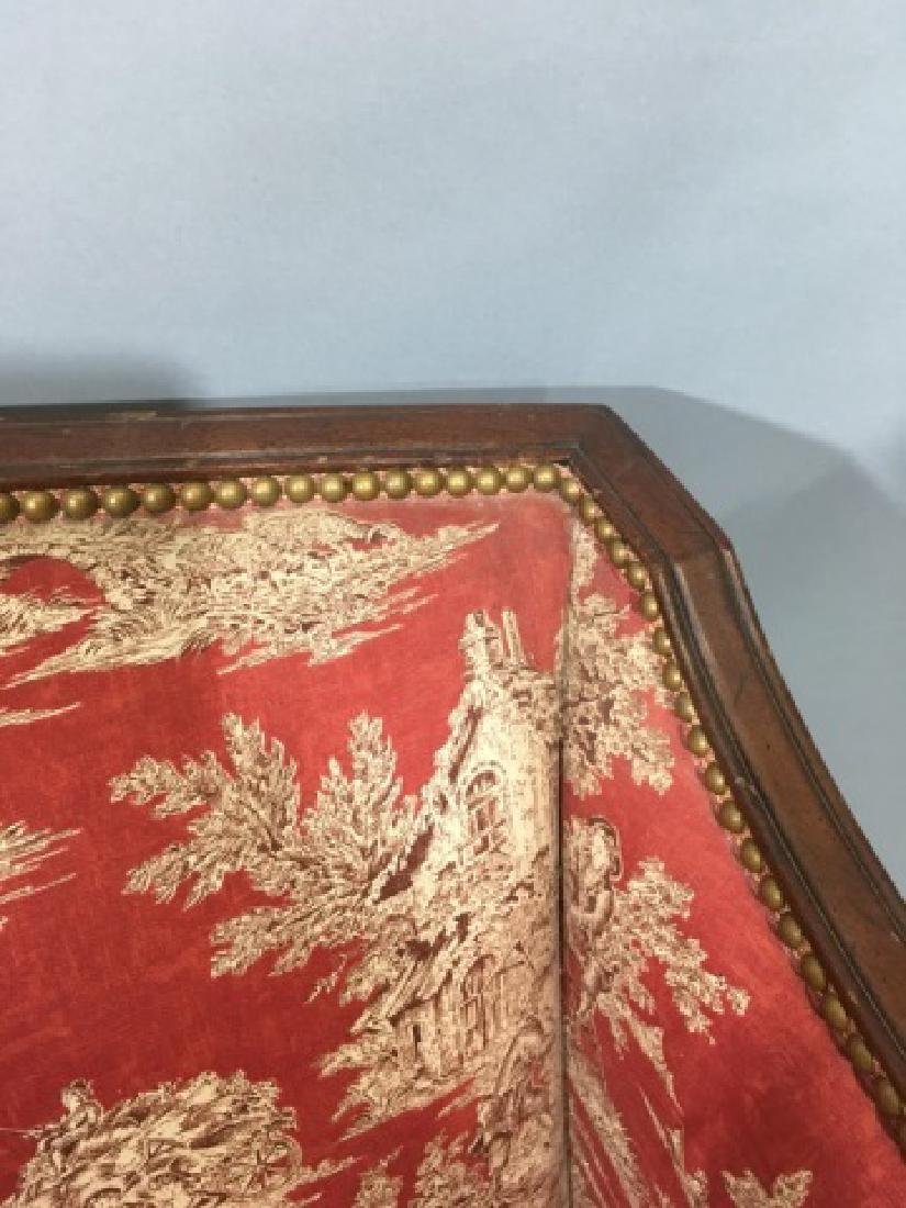 Vintage Regency Style Settee with Red Toile Fabric - 9