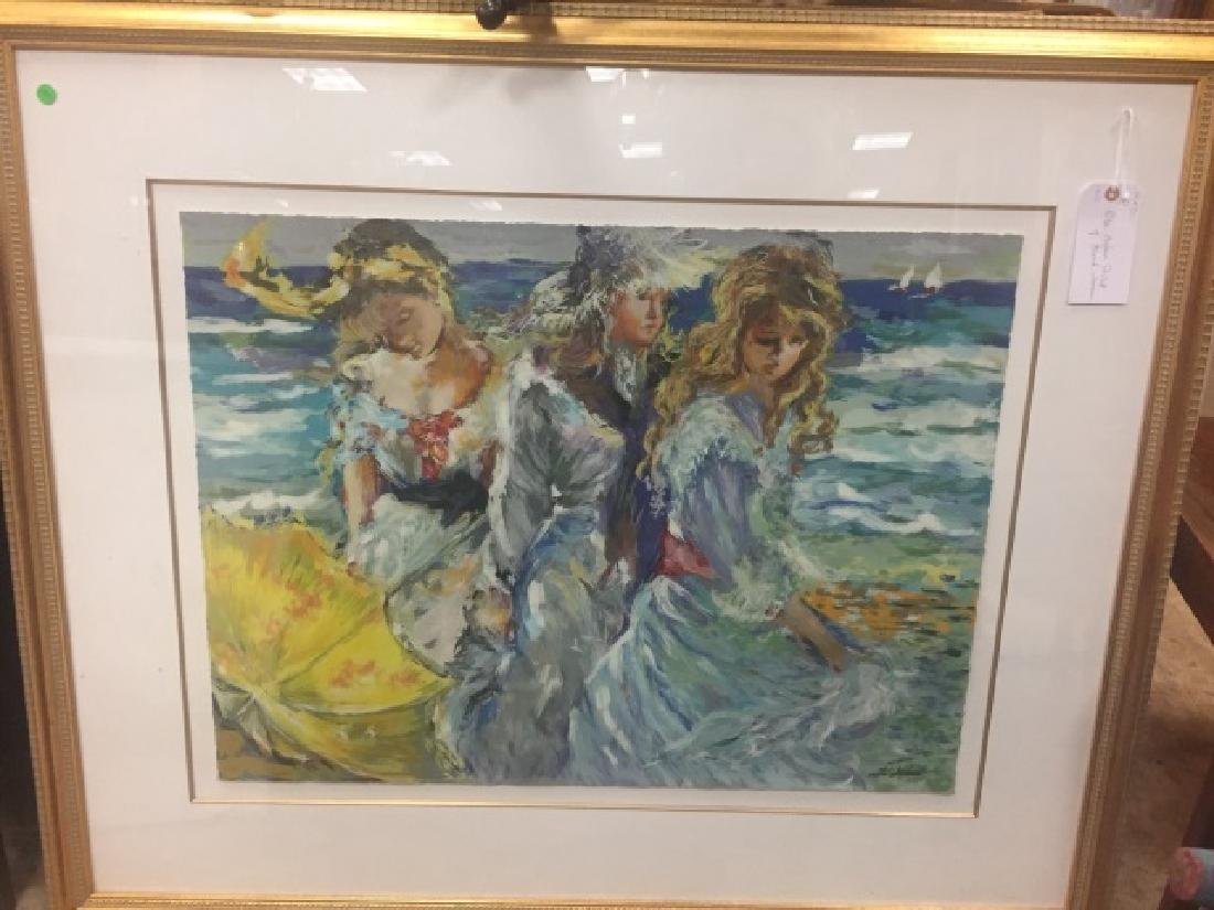 Rita Asfour Framed Signed Numbered Print of Women