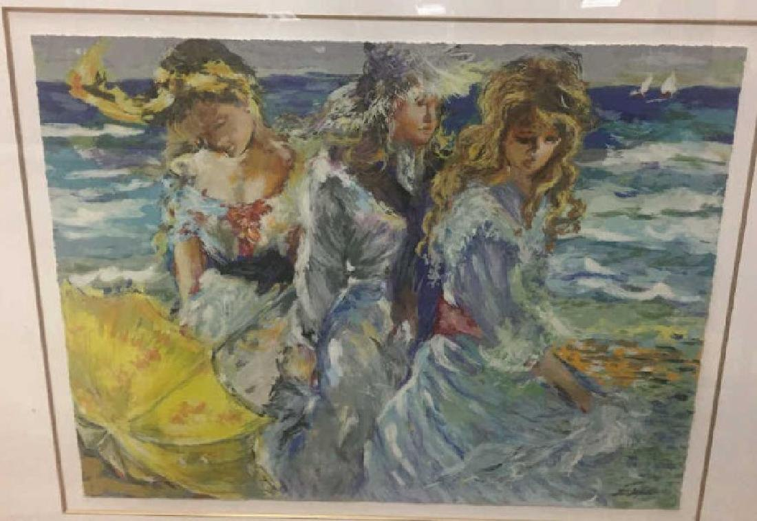 Rita Asfour Framed Signed Numbered Print of Women - 2