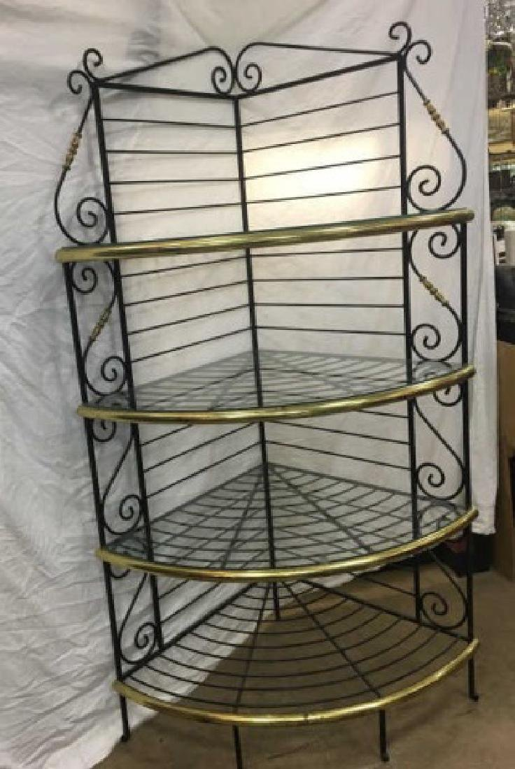 Antique French Style Wrought Iron Baker's Rack