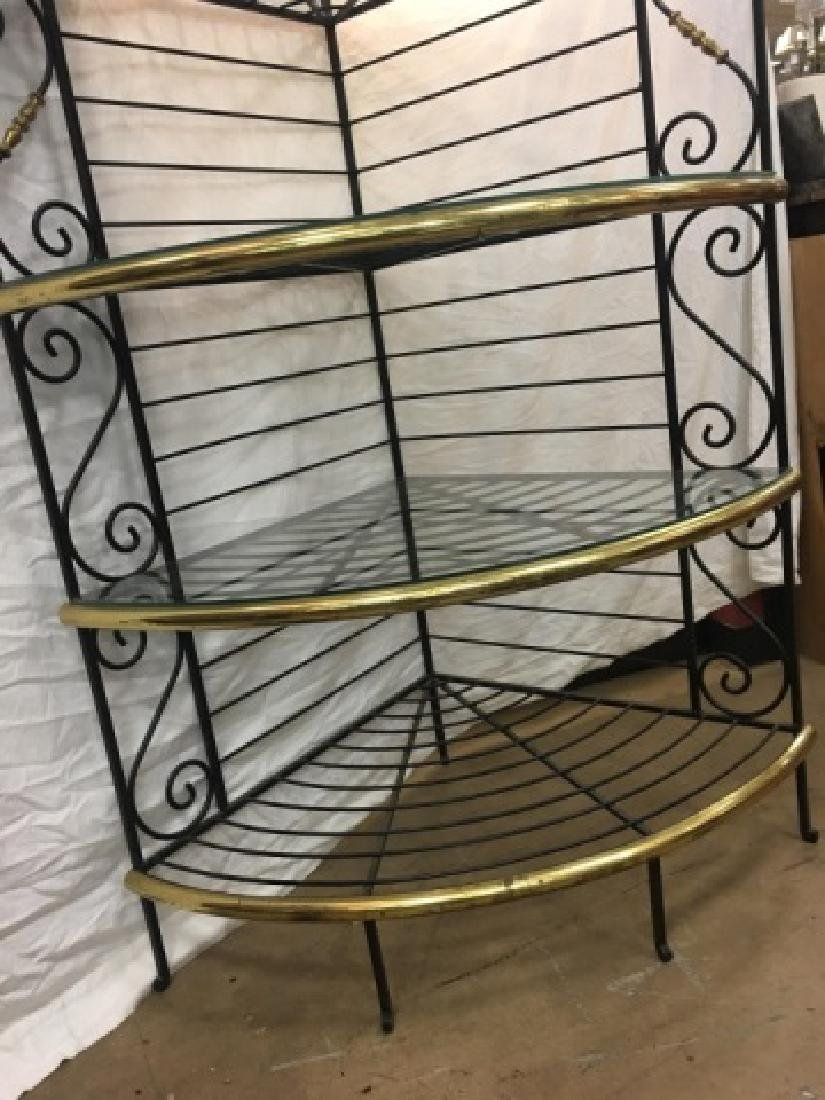 Antique French Style Wrought Iron Baker's Rack - 2