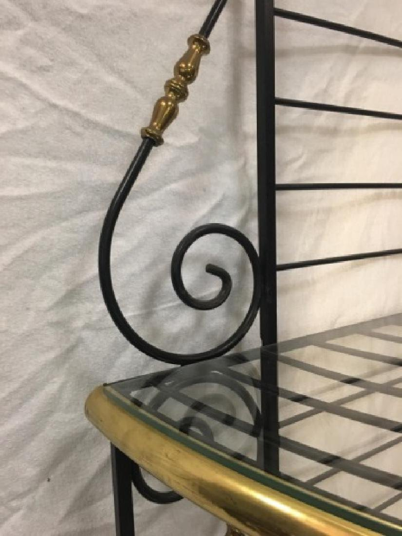 Antique French Style Wrought Iron Baker's Rack - 4