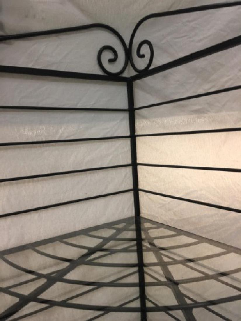 Antique French Style Wrought Iron Baker's Rack - 5