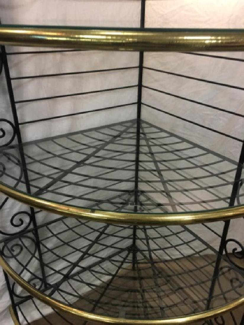 Antique French Style Wrought Iron Baker's Rack - 6