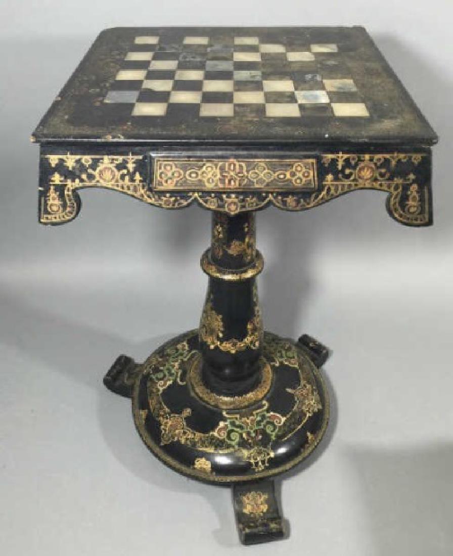Victorian Papier Mache, Designed Games Table