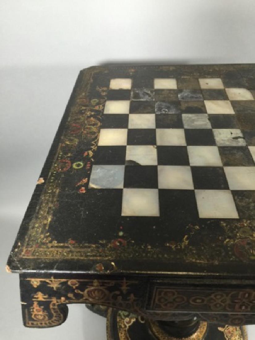 Victorian Papier Mache, Designed Games Table - 4