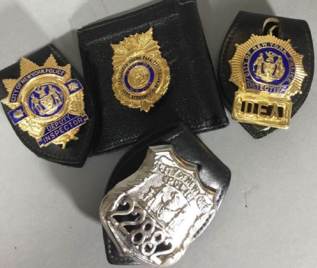 4 Obsolete New York City Law Enforcement Badges