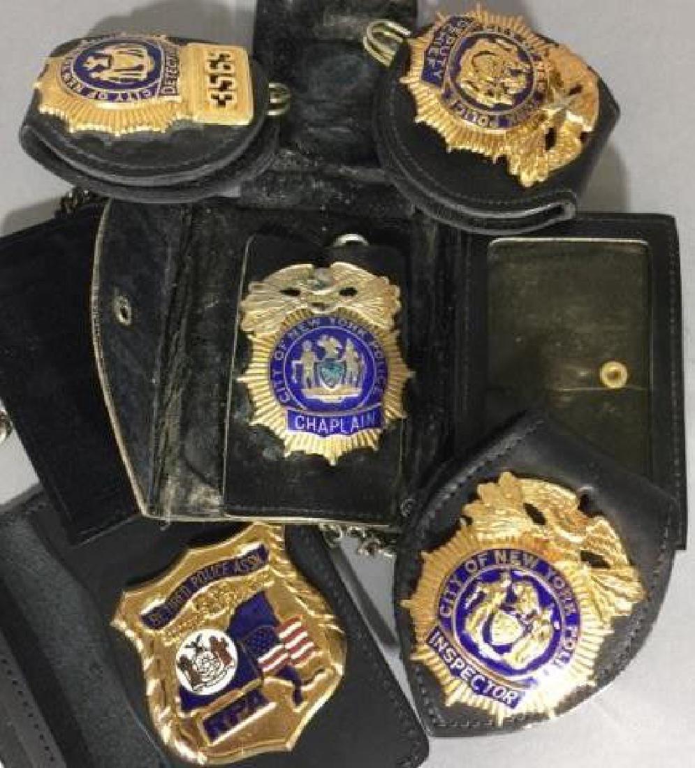 5 Obsolete New York City Law Enforcement Badges