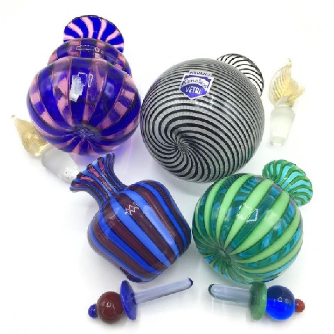 4 Fine Murano Cenedese Vetri Glass Perfumes - 2