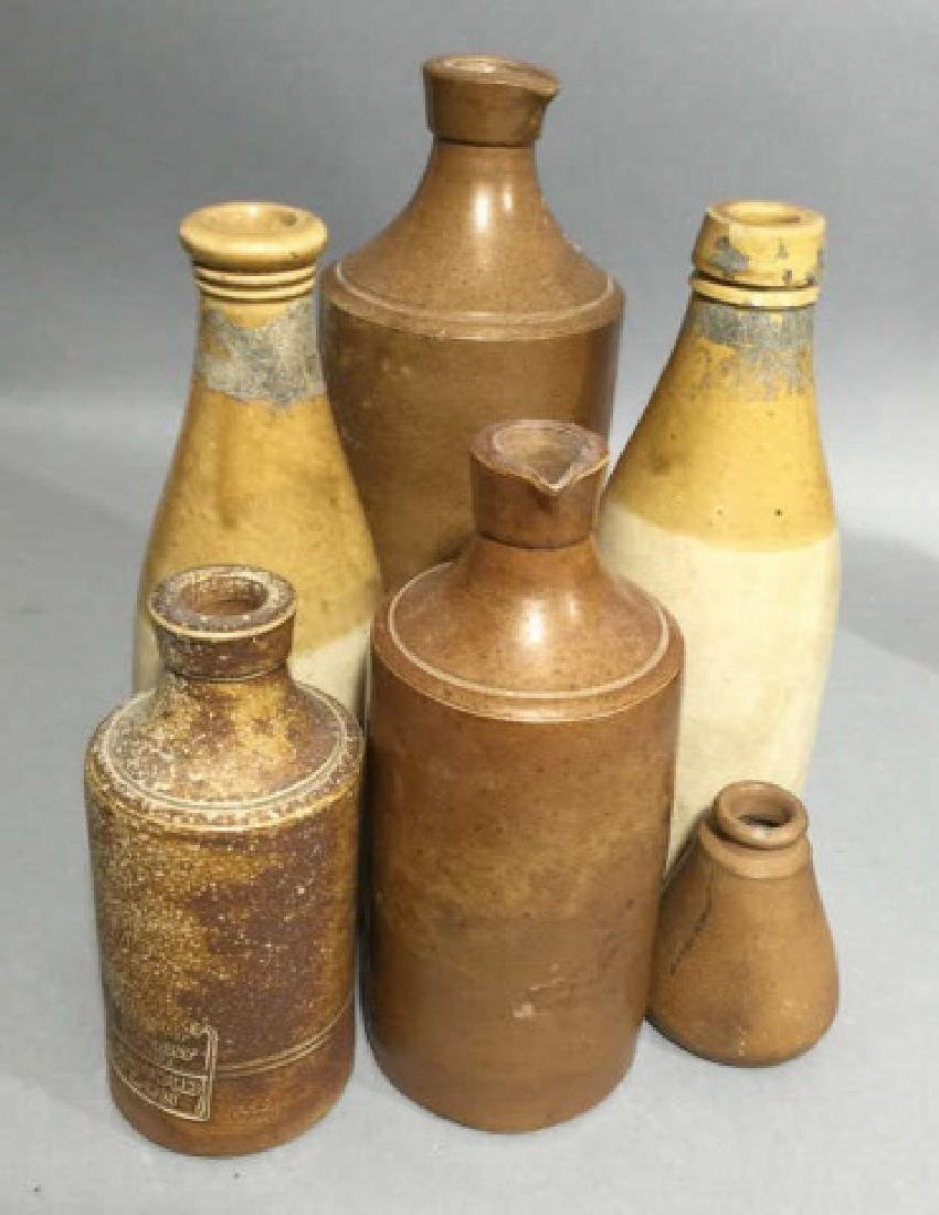 Group of 6 Antique & Vintage Stoneware Bottles