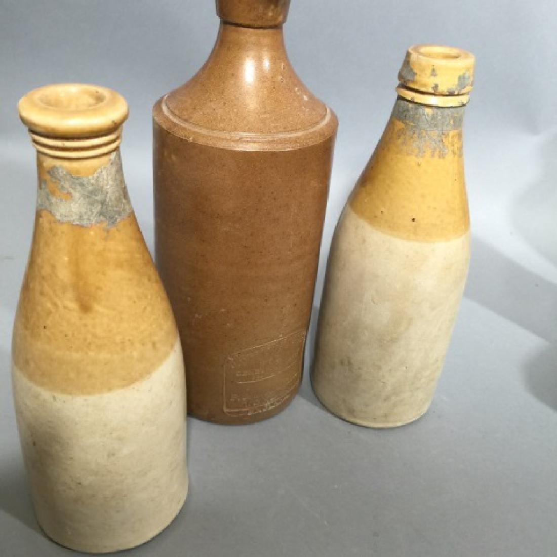 Group of 6 Antique & Vintage Stoneware Bottles - 3