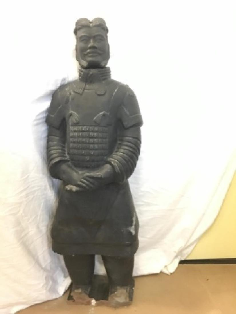 Large Chinese Xian Clay Warrior General Statue
