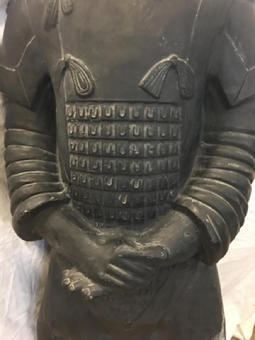 Large Chinese Xian Clay Warrior General Statue - 4